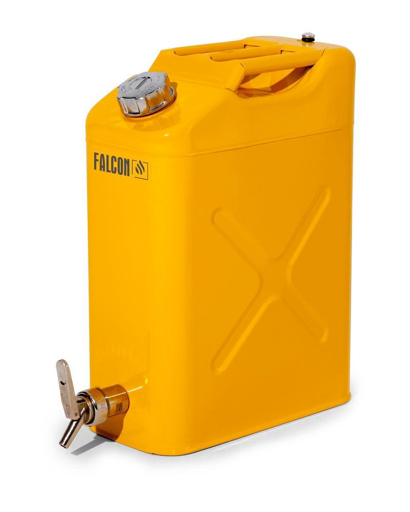 FALCON safety canister in steel, painted, with dispensing tap, 20 litres - 1