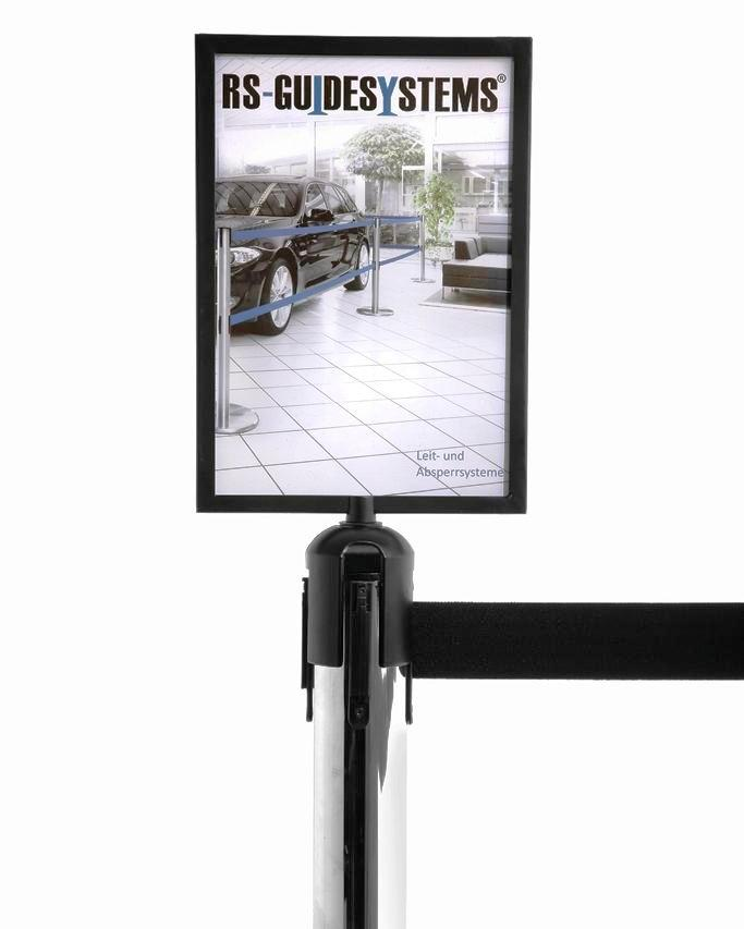 Sign holder for tape barrier systems model 2.6 And 2.9