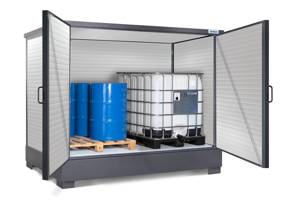 SolidMaxx depot model CH 2.1-ISO, insulated, for 8 x 205 litre drums or 2 x 1000 litre IBCs