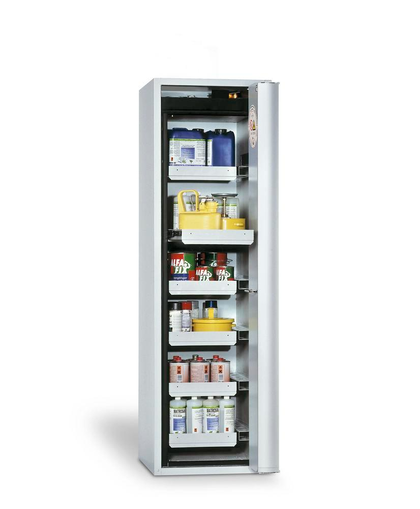 Fire Resistant Safety Cabinet GF-750.6, grey, right hinged door, 6 drawers