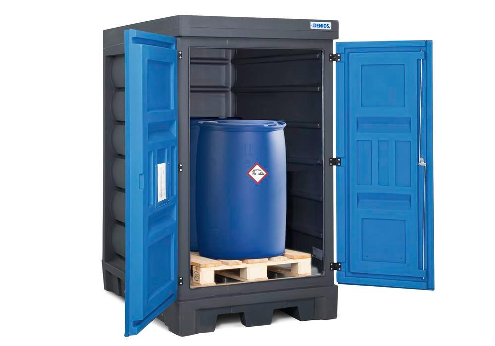 PolySafe depot model DL for 2 x 205 litre drums, arranged one behind the other, in plastic - 1