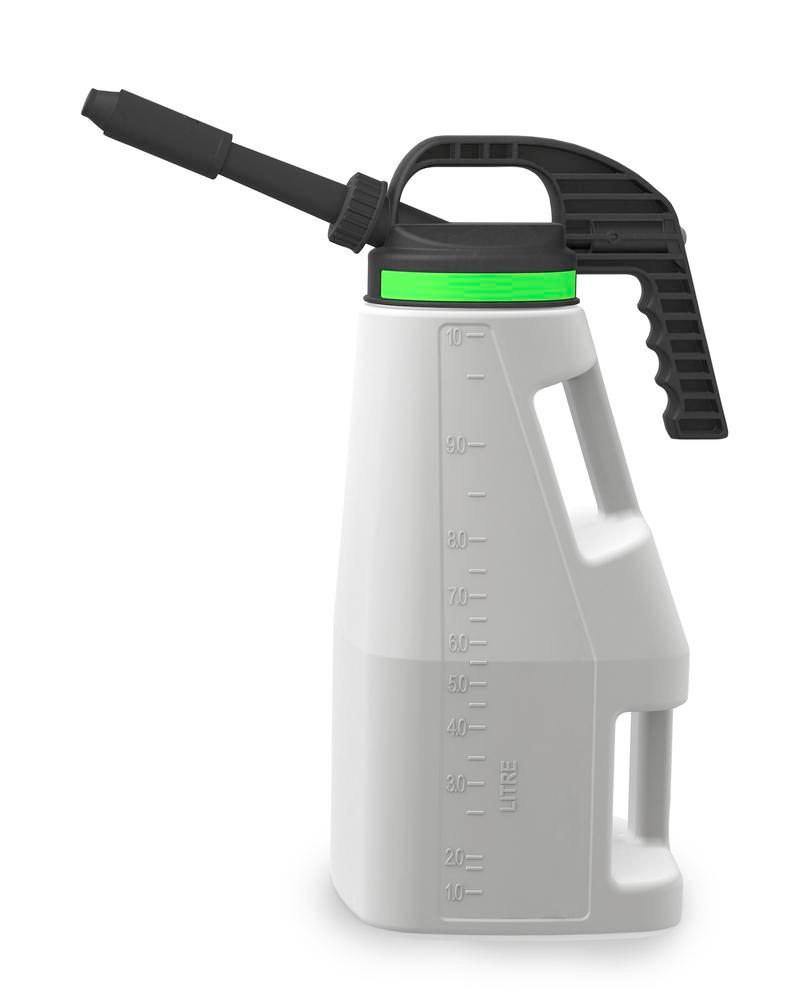 FALCON LubriFlex dispensing jug in polyethylene (HDPE), with interchangeable spout, 10 litres