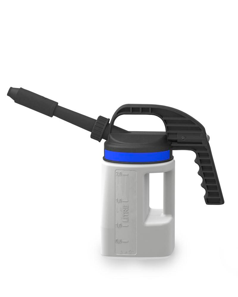 FALCON LubriFlex dispensing jug in polyethylene (HDPE), with interchangeable spout, 2 litres