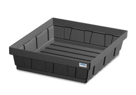 Spill tray for small containers base-line in polyethylene (PE) without grid, 15 litres-w280px
