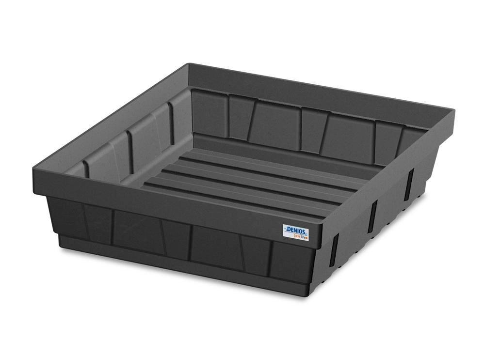 Spill tray for small containers EURO-P 15, in PE, containment volume 15 litres - 1