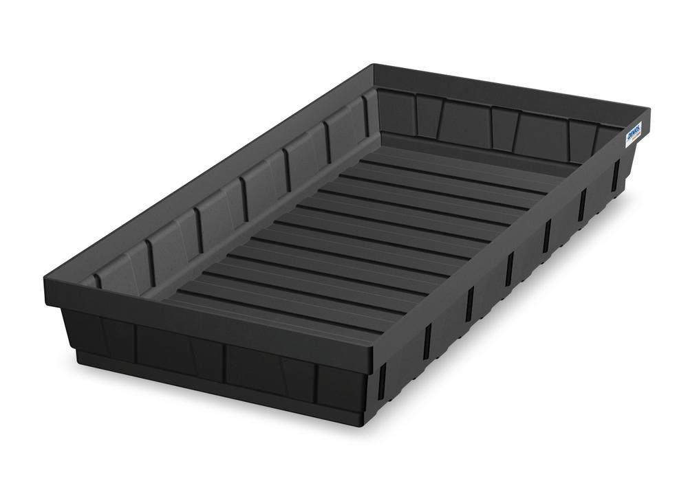 Spill tray for small containers EURO-P 32, in PE, containment volume 32 litres - 1