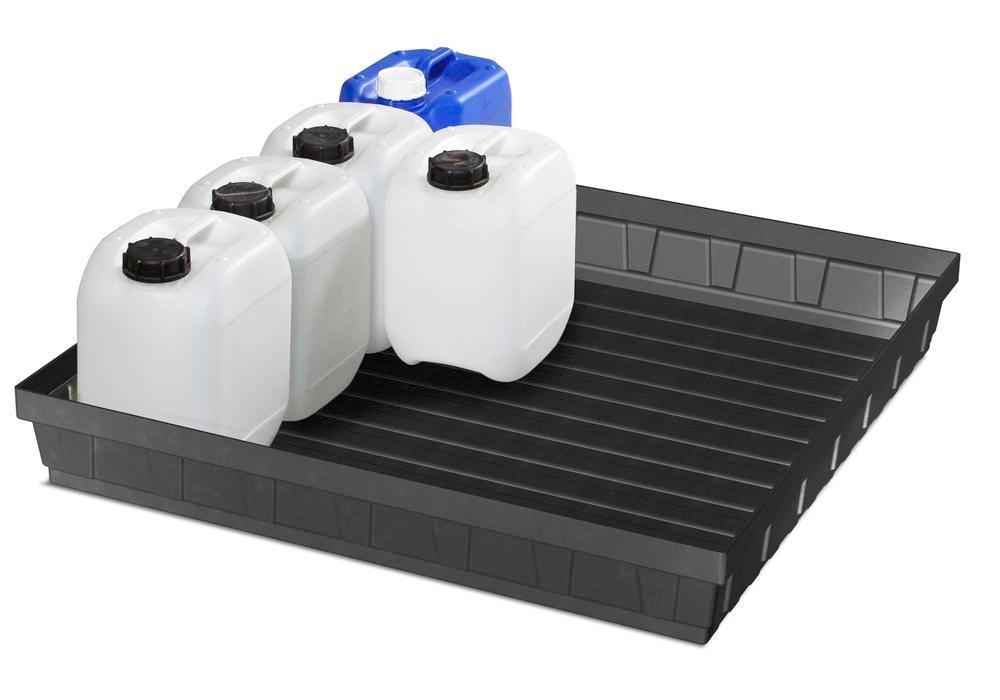Spill tray for small containers EURO-P 68, in PE, containment volume 68 litres - 2