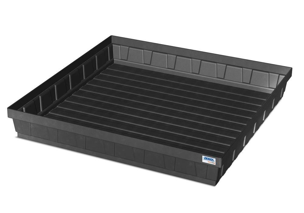 Spill tray for small containers EURO-P 68, in PE, containment volume 68 litres