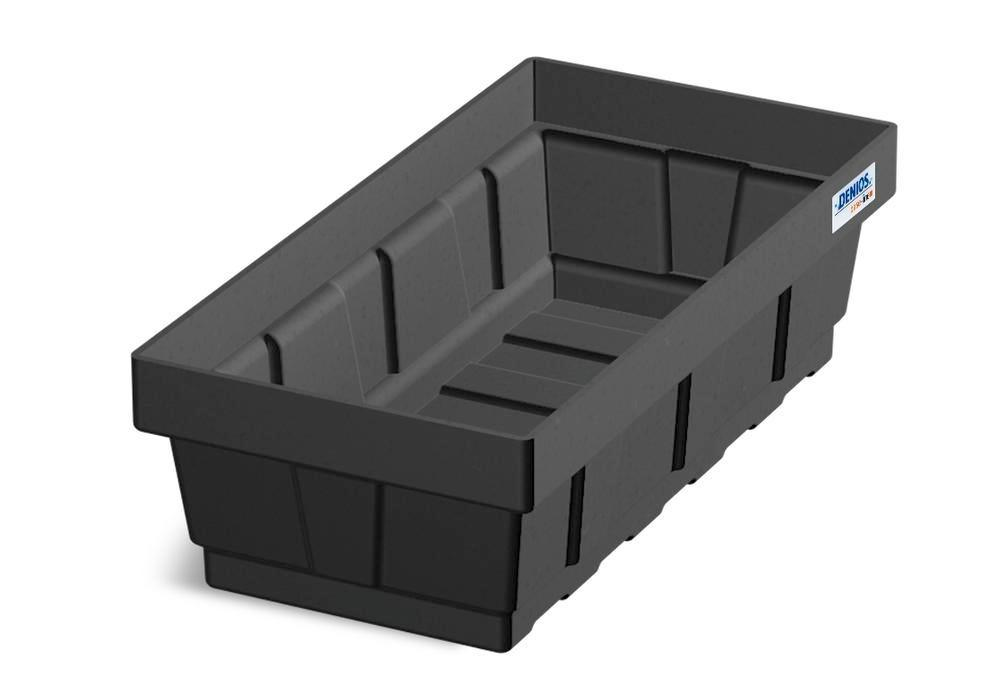 Spill tray for small containers EURO-P 7, in PE, containment volume 7 litres