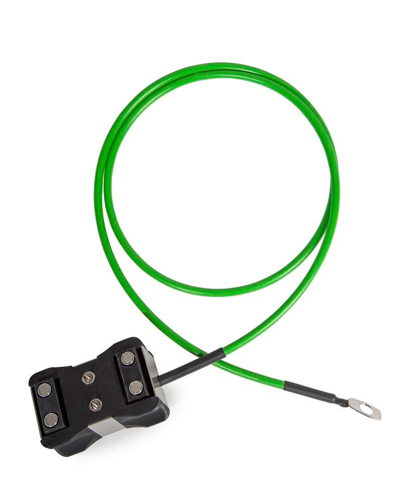 Earthing magnet Model EM-HX with green cable and eye, 5 m, for 50-200 L drums, ATEX - 1