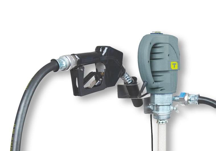 Electric drum pump W85, with automatic nozzle valve and rotating joint, 1600 mm immersion depth