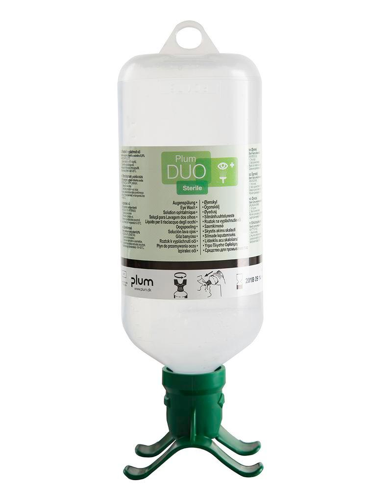 Eye rinse bottle DUO, with 1000 ml 0.9%