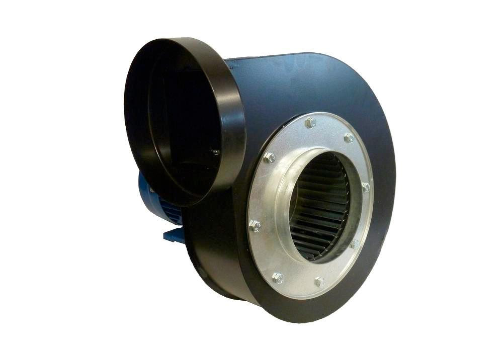 Fan for extraction arm with external joints