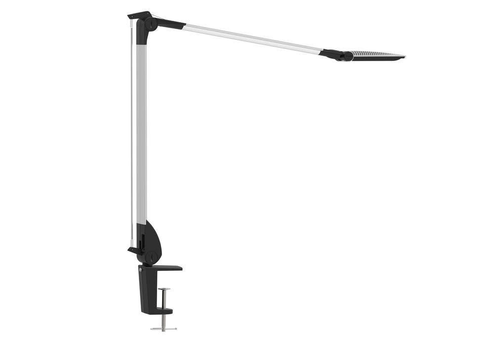 LED work light Leda, dimmable, with clamp, silver
