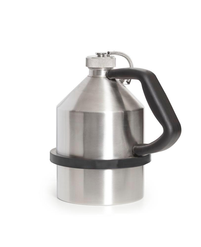 FALCON safety jug in stainless steel, with screw cap, 2 litres