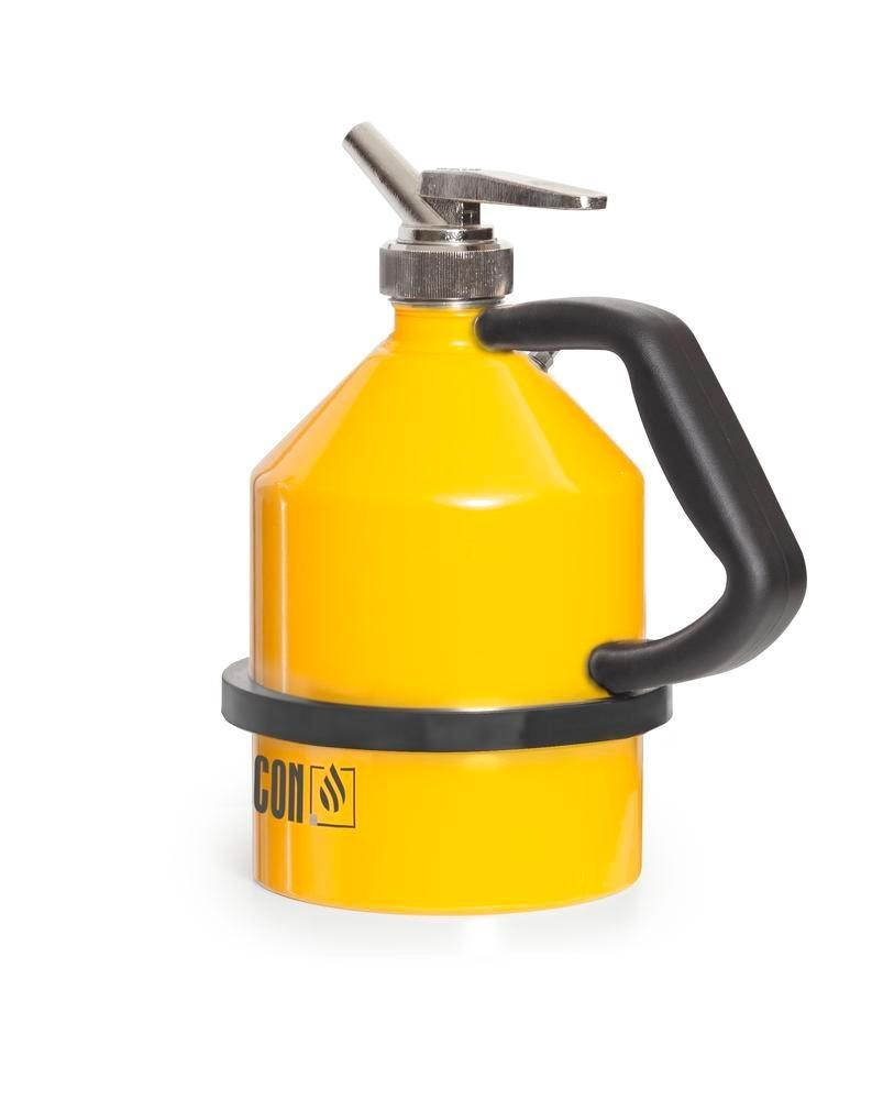 FALCON safety jug in steel, painted, with fine dosing tap, 2 litre