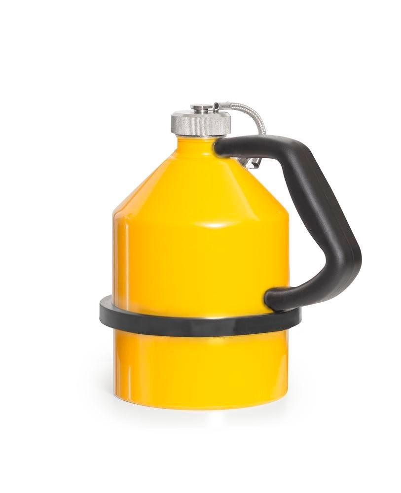 FALCON safety jug in steel, painted, with screw cap, 2 litres