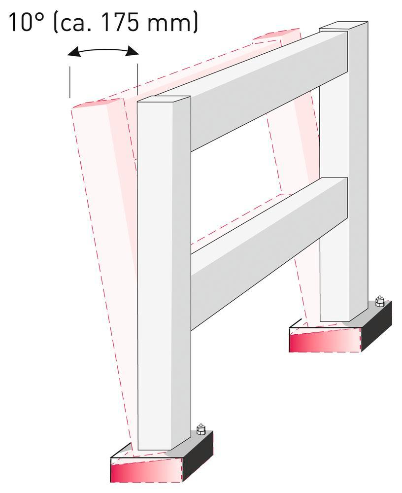Spring for flexible post (100 x 100 mm) for impact protection rails (1 spring per post)