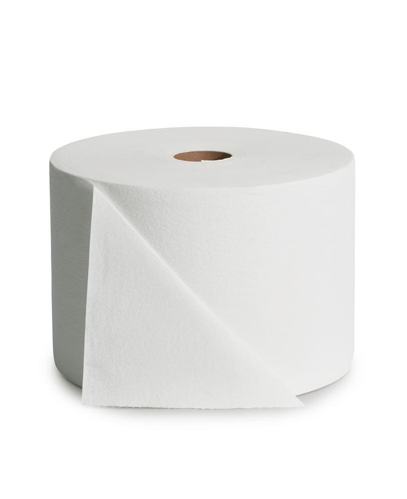 Absorbent cellulose cleaning cloths, very thick and soft, white, 1 roll