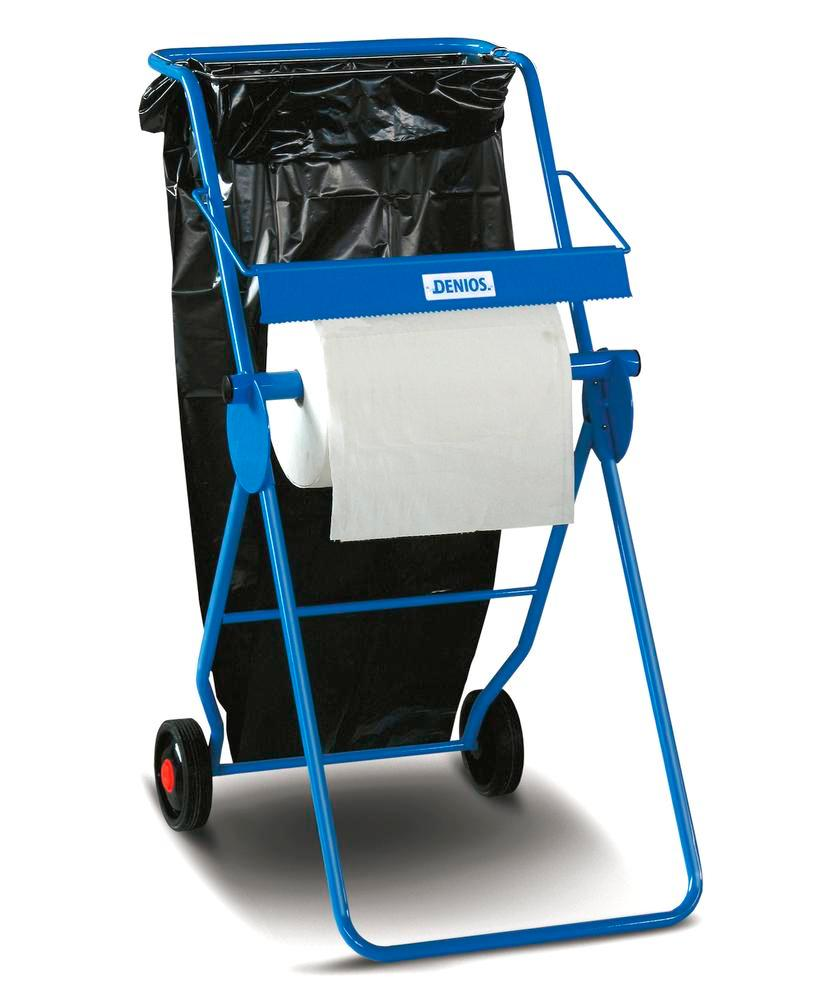 DENSORB stand for rolls up to 40 cm, mobile, including cutting edge and waste bag holder - 2