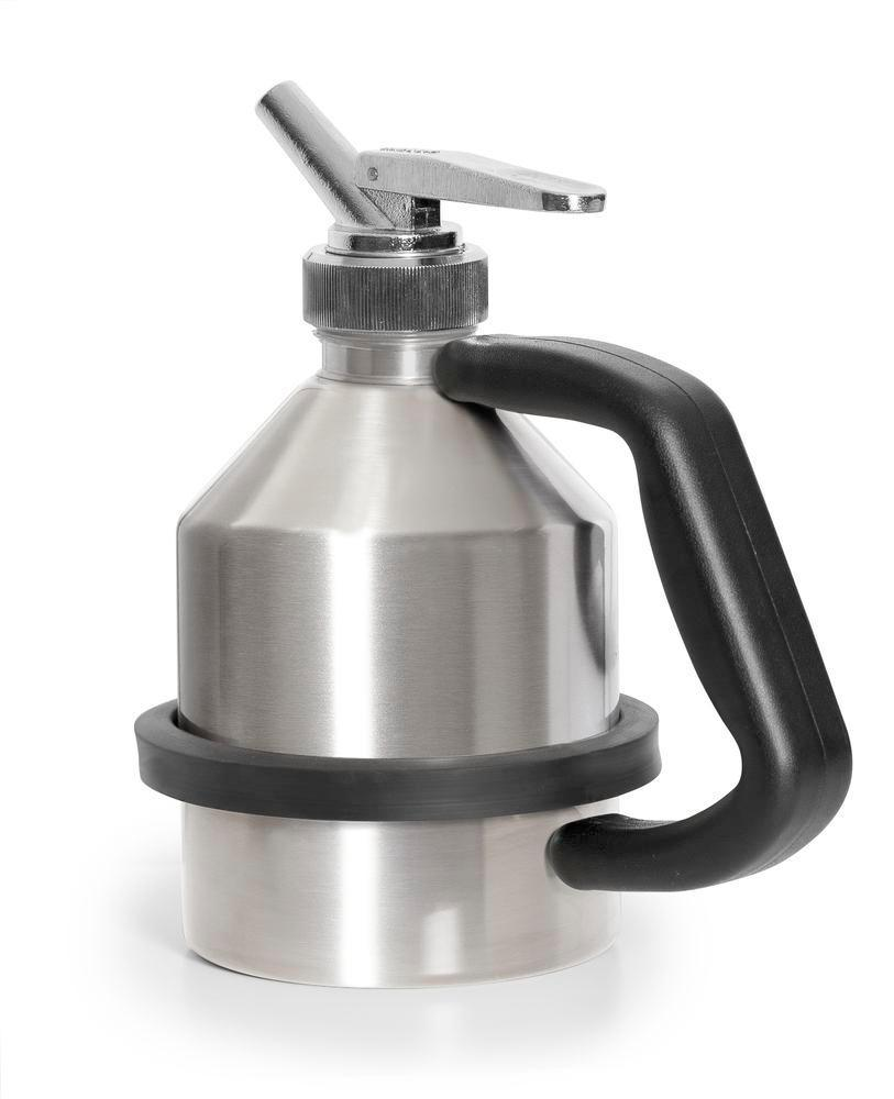 FALCON safety jug in stainless steel, with fine dosing tap, 1 litre - 1