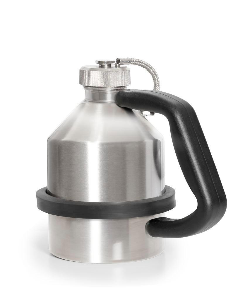 FALCON safety jug in stainless steel, with screw cap, 1 litre