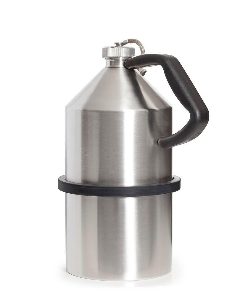 FALCON safety jug in stainless steel, with screw cap, 5 litres