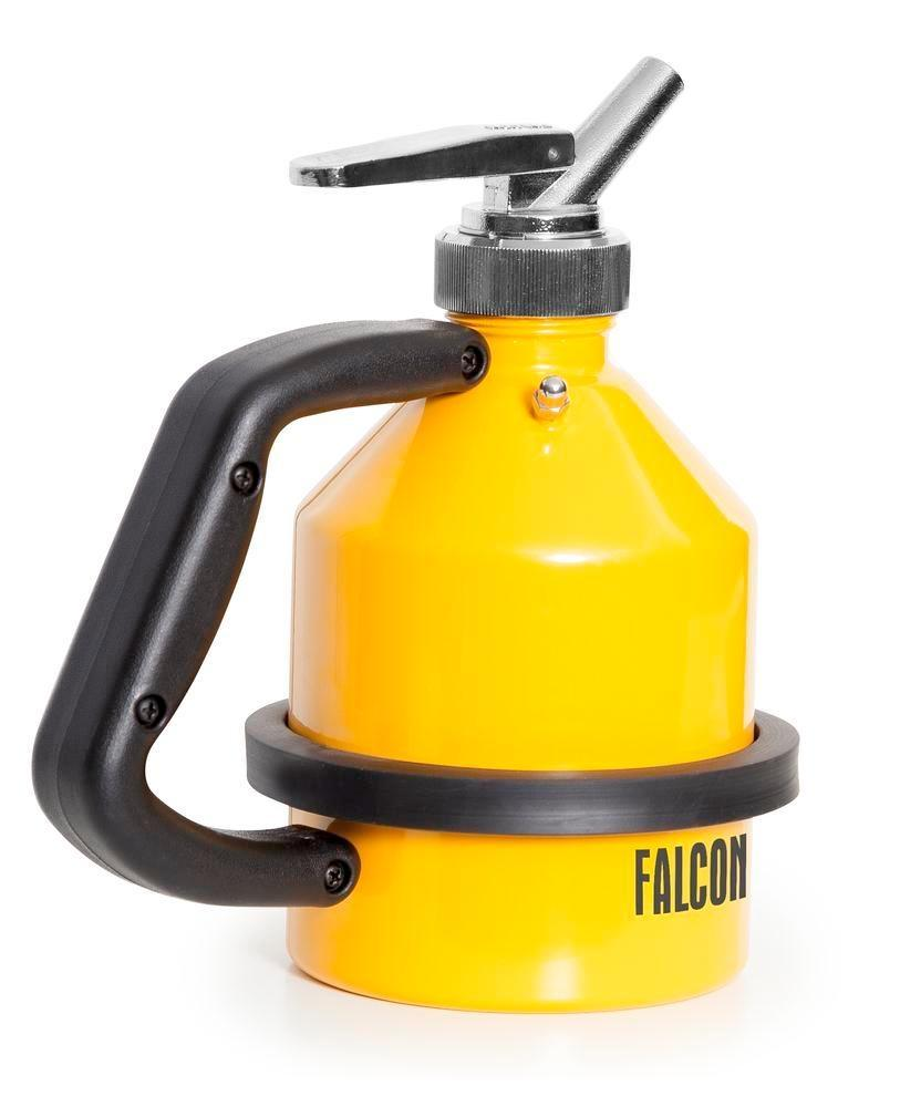 FALCON safety jug in steel, painted, with fine dosing tap, 1 litre - 3