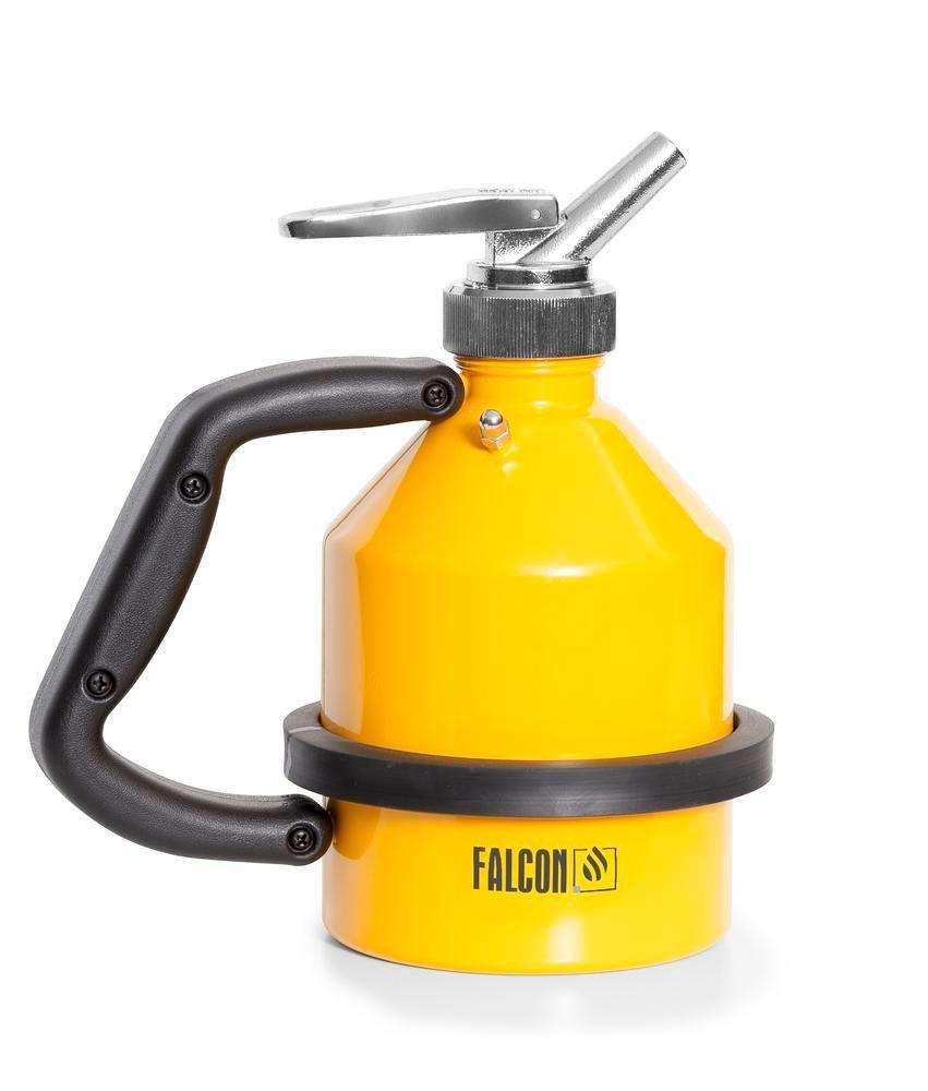 FALCON safety jug in steel, painted, with fine dosing tap, 1 litre - 4