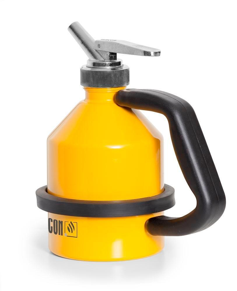 FALCON safety jug in steel, painted, with fine dosing tap, 1 litre