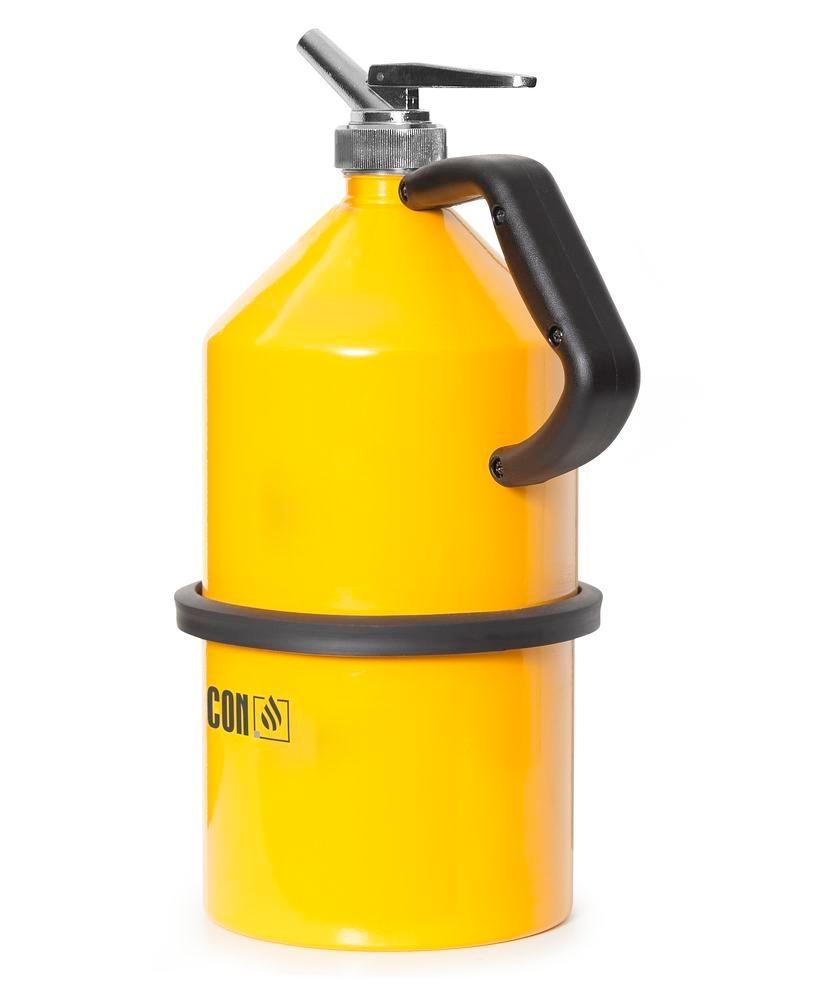 FALCON safety jug in steel, painted, with fine dosing tap, 5 litre
