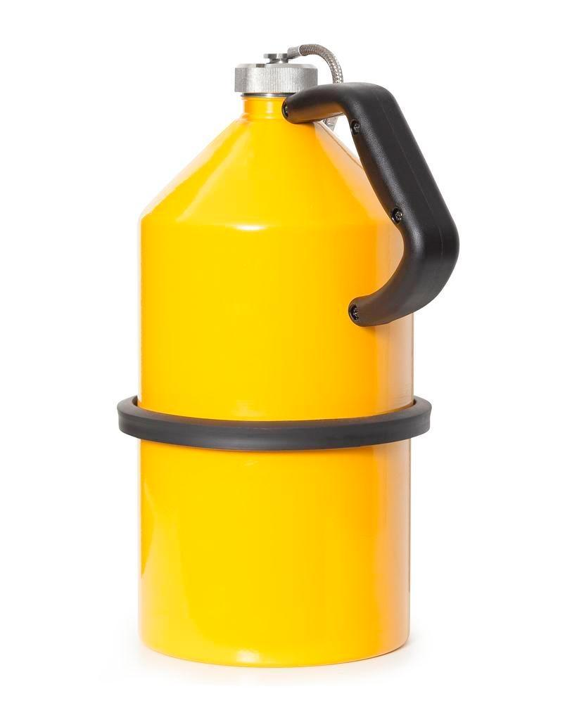 FALCON safety jug in steel, painted, with screw cap, 5 litres