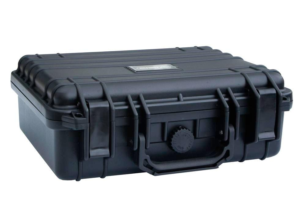 Protective case in plastic (PP), black, with foam inserts, 1.6 litre volume