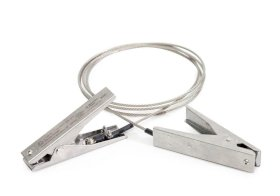 Earthing cable with 2 earthing clips, ATEX approval, 2 m cable-w280px