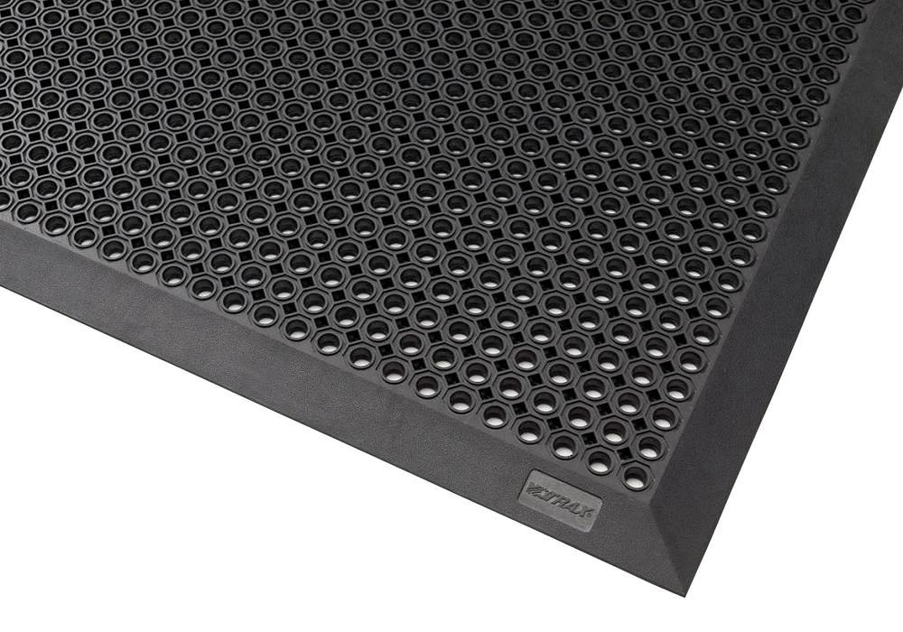 Dirt trapper mat OB 7.9 for outdoor use, natural rubber, black, 70 x 90 cm