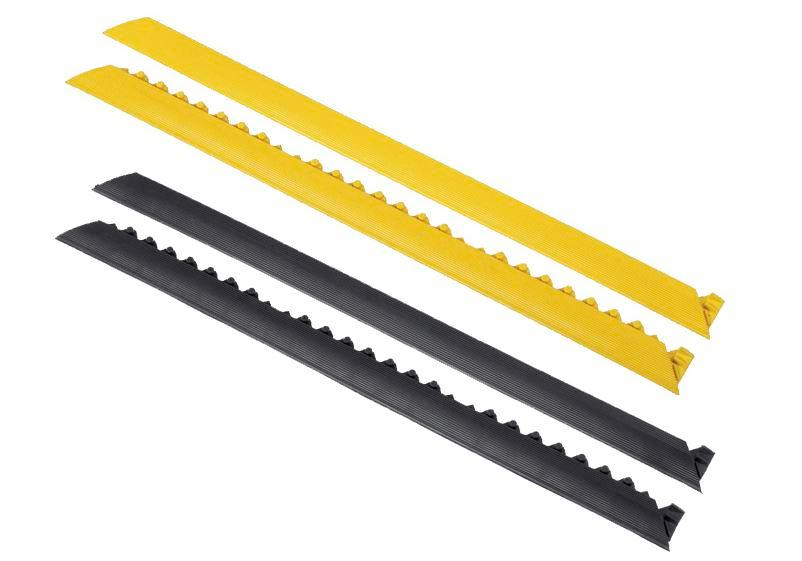 Edge strip, female connector, yellow, for anti-fatigue mat SH, 91 cm long - 1