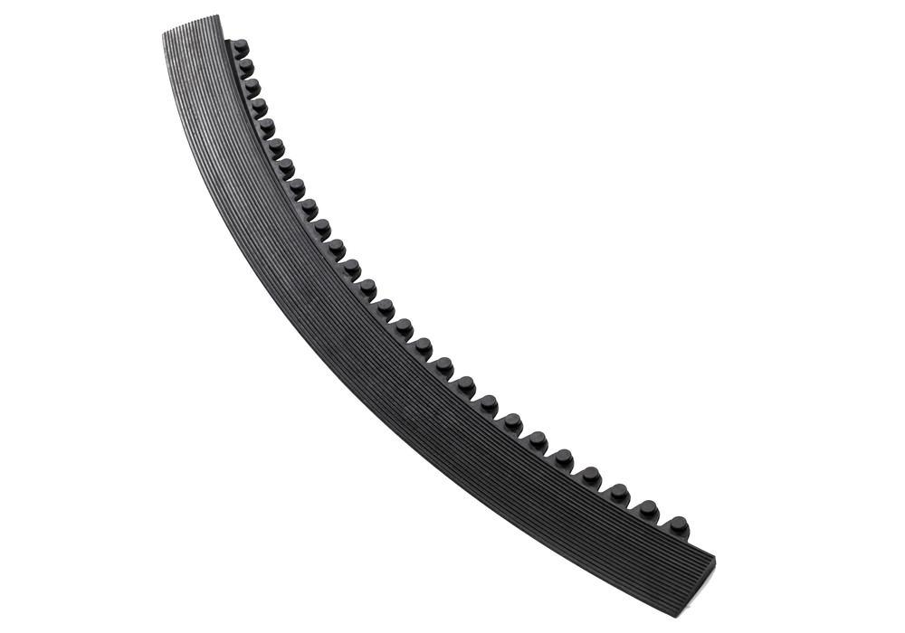 Edge strip, male connector, black, for anti-fatigue mat SH 9.45, 45° angle, 91 cm long