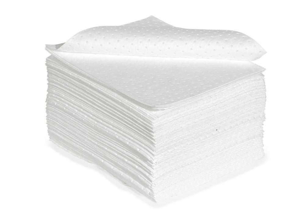 DENSORB Absorbent Pads Economy Single, Oil, Medium, without Perforations, 40 x 50 cm, Pack of 100