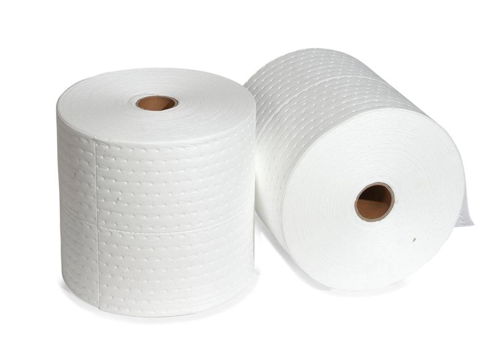 DENSORB absorbent roll Economy Single Single, OIL version, light, 38 cm x 20 m, 2 pieces