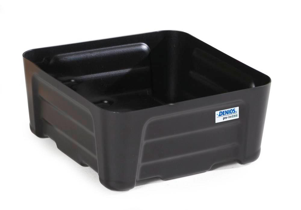 Spill tray for small containers pro-line in polyethylene (PE) without grid, 20 litre, 400x400x180 - 1