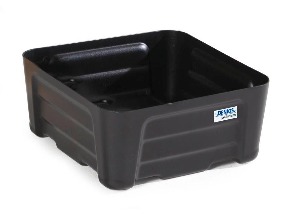 Spill tray for small containers pro-line in polyethylene (PE) without grid, 24 litre, 400x400x180