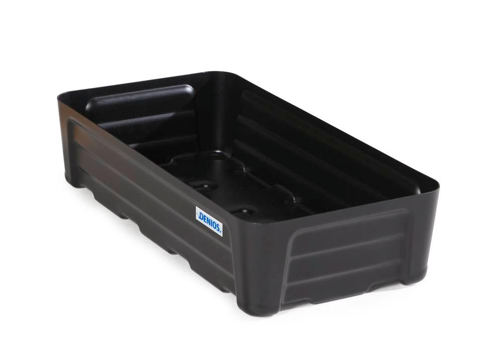 Spill tray for small containers pro-line in polyethylene (PE) without grid, 40 litre, 784x400x180