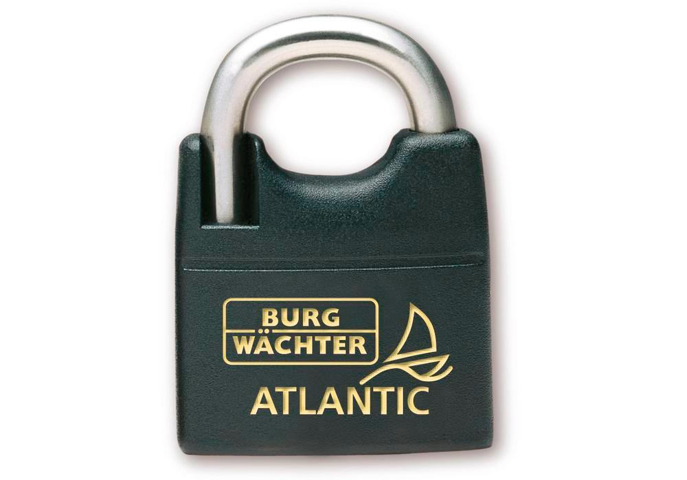 Cylinder padlock Atlantic 217 F 45 Ni, seawater-proof, absolutely rust free, high shackle - 1