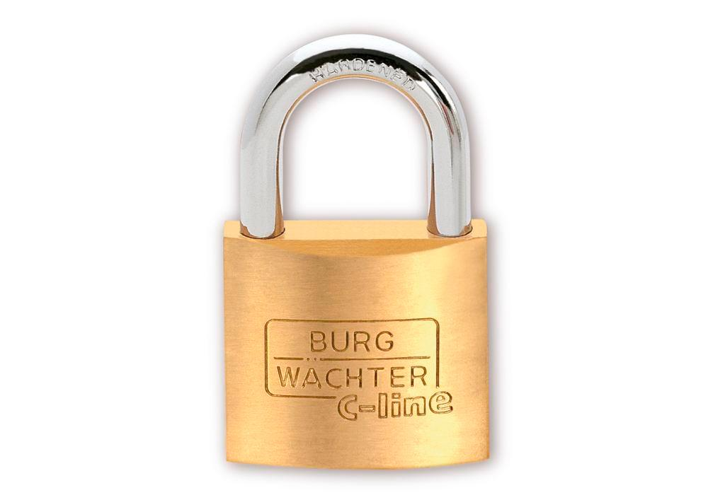 Cylinder padlock C-Line 222 30, with solid brass body - 1