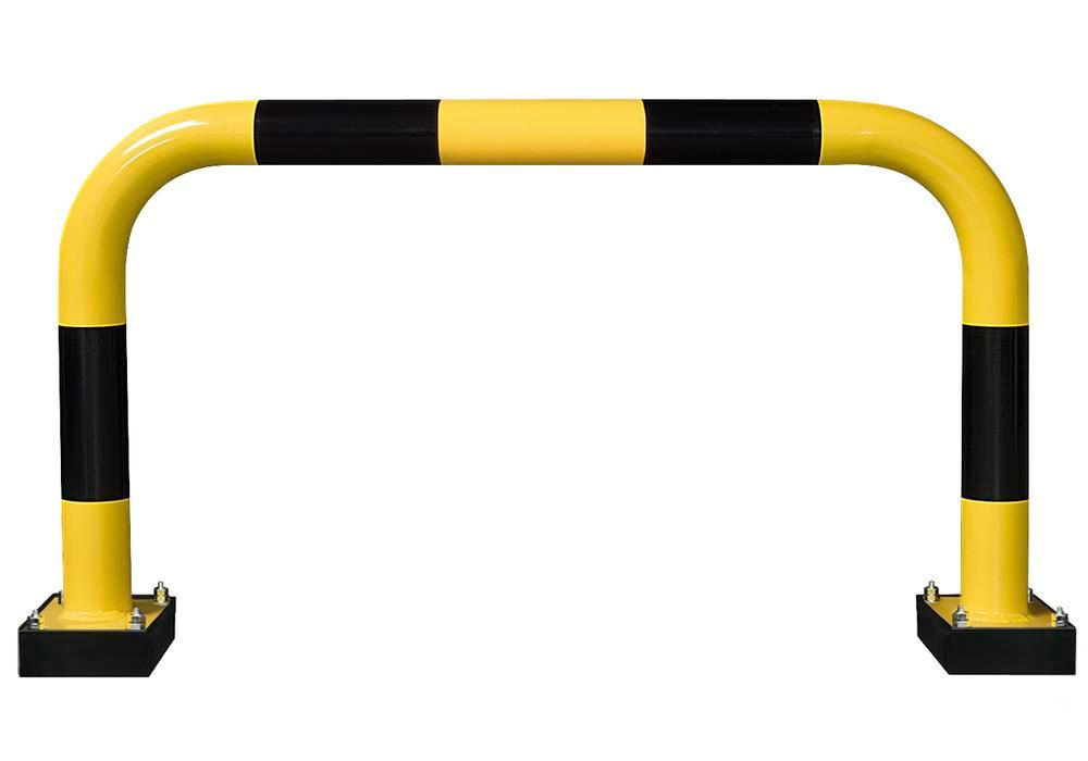 Flexible impact protection rail R 10.6 outdoor, 1000 x 640 mm, hot dip galvanised, plastic coated - 1