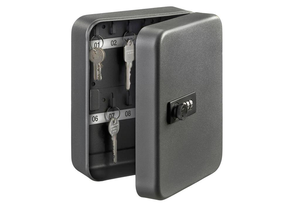 Key box with combination lock KC 20 C, with 20 key hooks