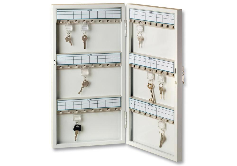 Key cabinet 6750/96 R, with 96 key hooks
