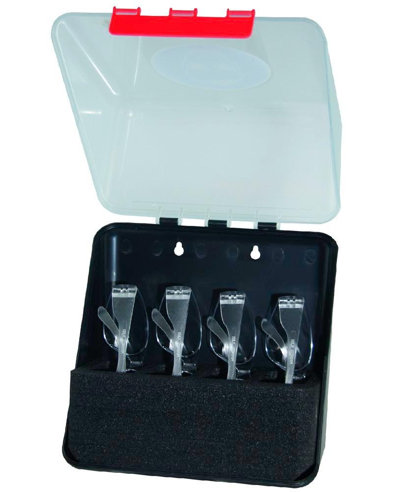 Midibox f. 4 safety glasses, transparent