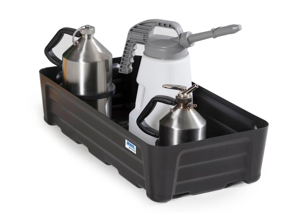 Spill tray for small containers pro-line in polyethylene (PE) without grid, 30 litre, 592x400x180 - 1