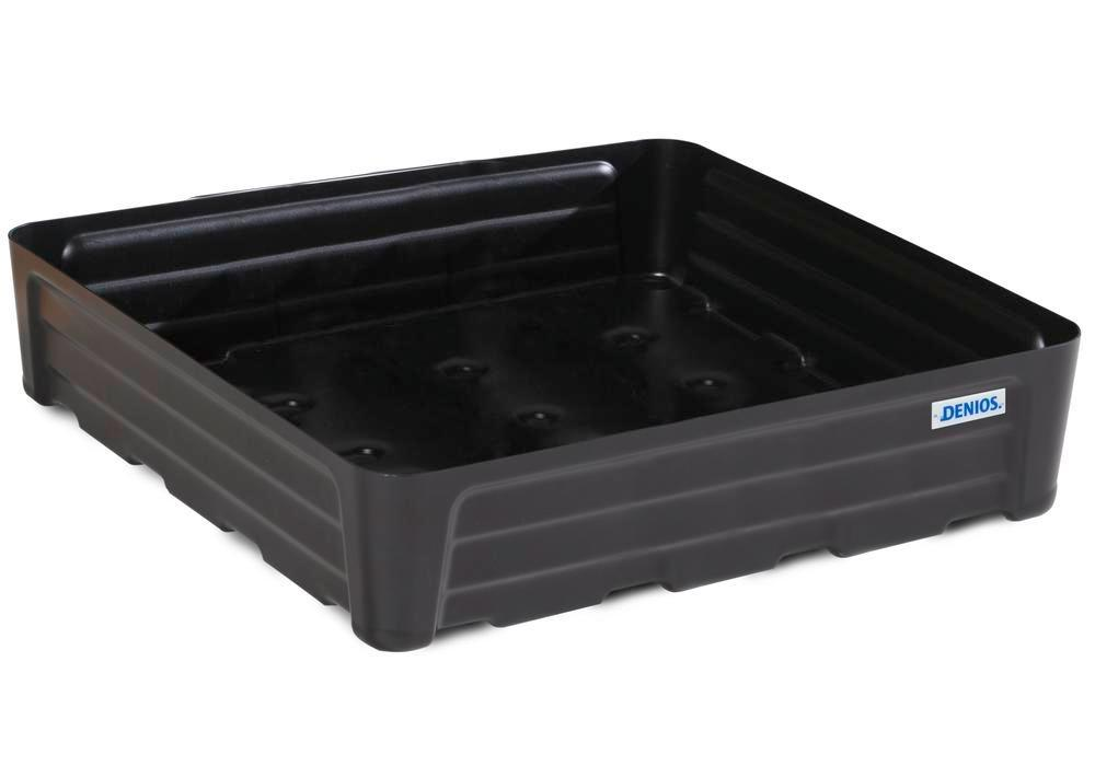 Spill tray for small containers pro-line in polyethylene (PE) without grid, 97 litre, 784x784x180